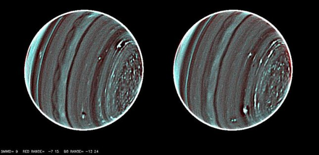 A paired picture of Uranus, the sharpest, most detailed picture of the distant planet to date, reveals a raft of new details about the planet's enigmatic atmosphere. The infrared image was taken using the Keck II telescope in Hawaii. Credit: Lawrence Sromovsky, Pat Fry, Heidi Hammel, Imke de Pater