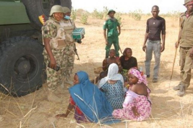 Niger'a army rescues several hostages, including women and children, from Boka Haram terrorists, the army said Wednesday. Photo courtesy of Nigerian army/Facebook