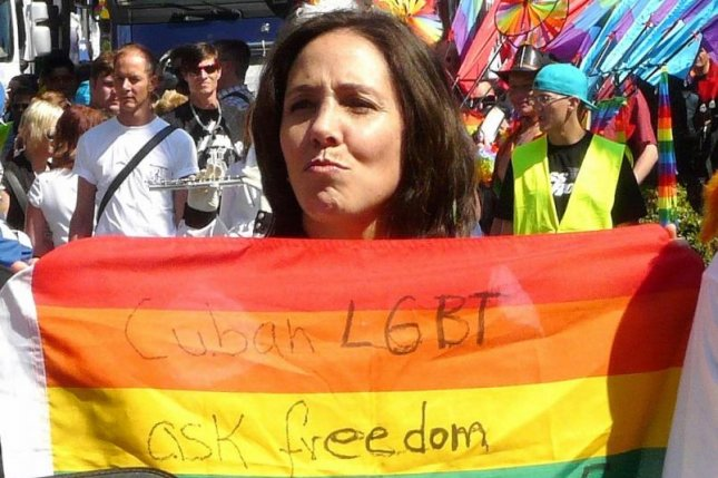 Mariela Castro, pictured here in 2010 during a gay pride parade in Hamburg, Germany, will lead a symbolic mass gay marriage ceremony in Cuba over the weekend. Photo by Northside/CC/Wikimedia Commons
