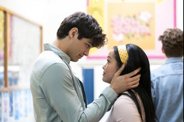 Lana Condor (R) and Noah Centineo play Lara Jean Covey and Peter Kavinsky in the new film To All the Boys: P.S. I Still Love You. Photo courtesy of Netflix