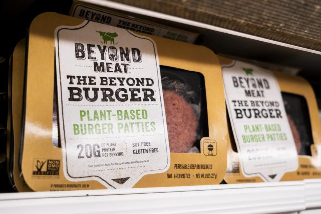 About 60 percent told Gallup researchers they are likely to eat plant-based meat again. File Photo by Justin Lane/EPA-EFE