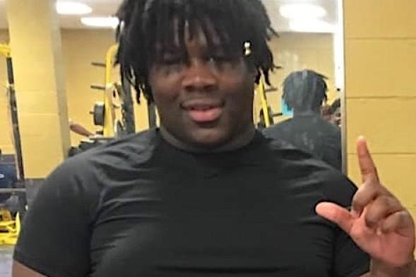 Terrance Allen, a 15-year-old Amite (La.) High School lineman, collapsed and died after a practice on June 18. Photo courtesy of Amite High School via Michael Vinsanau/WDSU