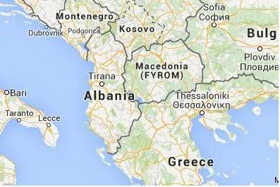 Hundreds of macedonia refugees rip through police barriers cross forced their way across the border between greece and macedonia on saturday pushing back on macedonias police and army image from google maps gumiabroncs Image collections