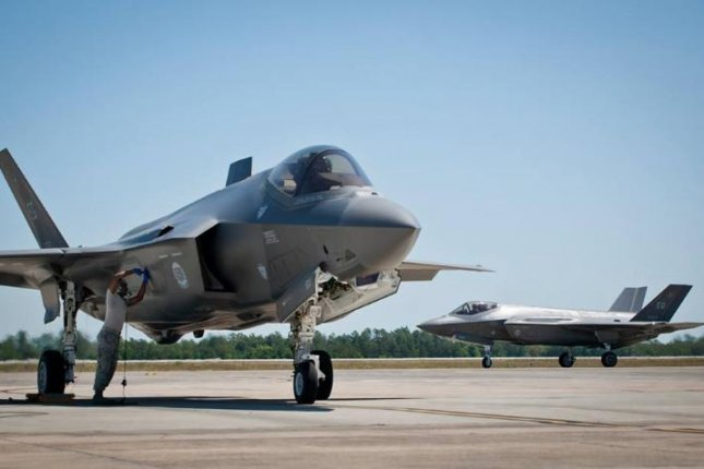 F-35A Lightning II fighter planes on the runway at Eglin Air Force Base, Fla. Photo courtesy of U.S. Air Force