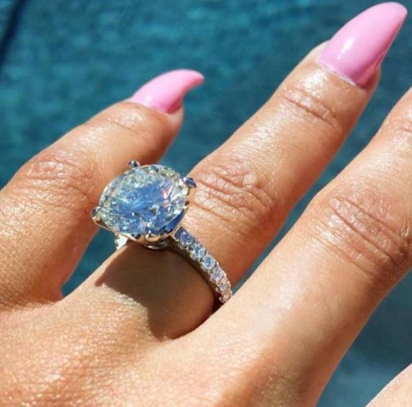Rob Kardashian reportedly paid $325,000 for Blac Chyna's engagement ring. Photo by Blac Chyna/Instagram
