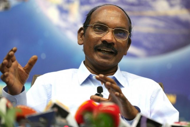 Kailasavadivoo Sivan, chairman of the Indian Space Research Organization, speaks during a media event at the space agency headquarters Wednesday. Photo by Jagadeesh Nv/EPA-EFE