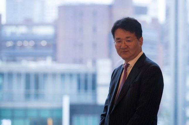 Hanjin Group Chairman Cho Won-tae defeated his sister Cho Hyun-ah to be reappointed as an internal director of the conglomerate's holding company Hanjin Kal on Friday. Photo by Jeong Byung-hyuk/UPI News Korea