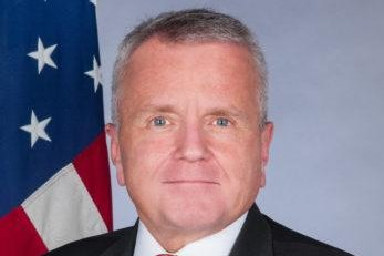 U.S. ambassador to Moscow John Sullivan (shown) called the evidence against former U.S. Marine Trevor Reed flimsy Thursday after a judge sentenced Reed to nine years in prison. Photo courtesy of U.S. Embassy