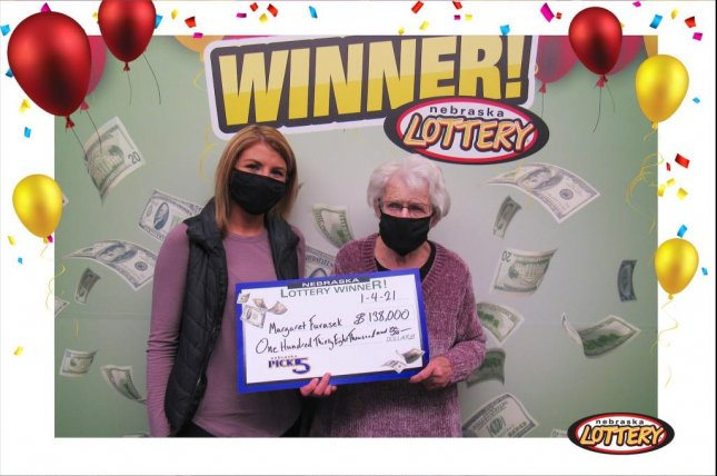 Margaret Furasek of Weston, Neb., won a $138,000 jackpot from the state lottery's Pick 5 game just five months after winning $94,000 from the same game. Photo courtesy of the Nebraska Lottery