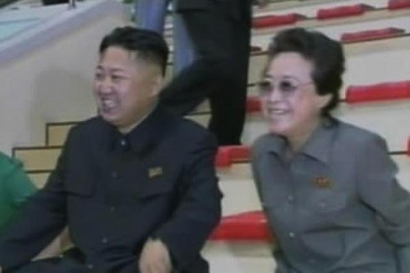 North Korean leader Kim Jong Un and his aunt Kim Kyong Hui in 2012, after the elder Kim experienced inexplicable weight loss. Kim is no longer in positions of power, Seoul said Friday. Photo by KCNA/Yonhap