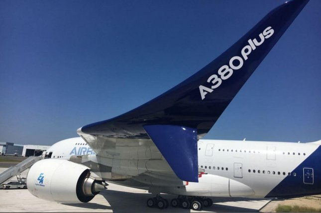 Airbus on Sunday unveiled its A380plus wide-body jet plane, an upgraded version of what is the world's largest passenger aircraft that the company said is more fuel efficient. Photo courtesy of Airbus