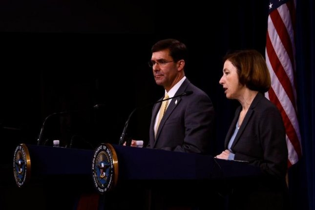French Defense Minister Florence Parly (R), pictured here with U.S. Defense Secretary Mark Esper last week, announced on Sunday that France will send 600 more troops to Africa's Sahel region to fight insurgent groups. Photo courtesy of French Defense Ministry/Twitter