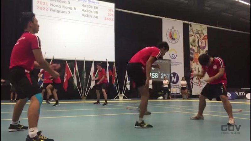 Members of the Hong Kong team set a double-dutch world record at the 2016 World Rope Skipping Championships. Screenshot: ISD ISD, HKSARG/YouTube