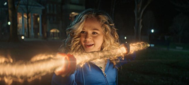 Courtney Whitmore (Brec Bassinger) becomes Stargirl with the Cosmic Staff. Photo courtesy of The CW