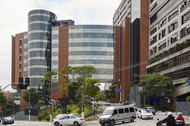 Former Brazilian finance minister Guido Mantega was arrested Thursday at Albert Einstein Hospital (pictured) in Sao Paulo, Brazil, on corruption charges as he visited his wife prior to her surgery. Hours later, he was allowed to leave jail due to his wife's condition. File Photo by Cifotart/Shutterstock