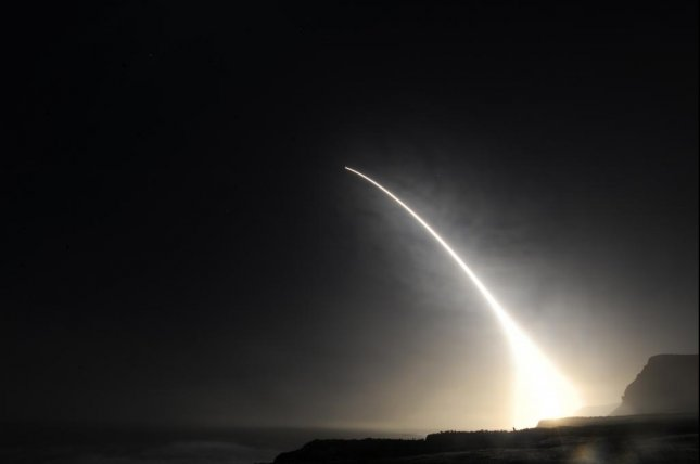 Orbital ATK contracted to explore enhanced propulsion capability for ICBMs through improvements and/or alternatives to current post-boost propulsion systems. Pictured, an unarmed Minuteman III intercontinental ballistic missile launches during an operational test at 11:34 p.m., Feb. 20, 2016, Vandenberg Air Force Base, Calif. U.S. Air Force photo by Michael Peterson