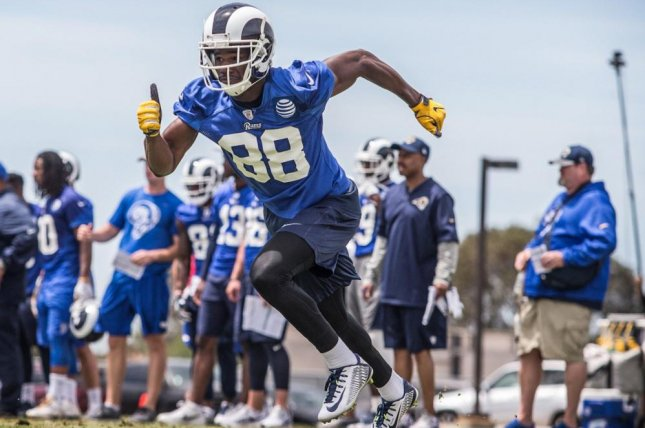 Los Angeles Rams wide receiver Mike Thomas will sit out for the first four games of the 2017 season. Photo courtesy of Los Angeles Rams/Twitter
