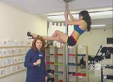 Greeting Card Maker Pole Dances In Store