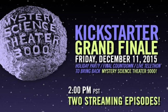 'Mystery Science Theater 3000' set a record Friday of becoming the most-funded Film/TV project on Kickstarter. Overall, with pledges and merchandise, the campaign raised over $6.3 million, promising 14 new episodes of the cult favorite. Photo by Mystery Science Theater 3000/Facebook