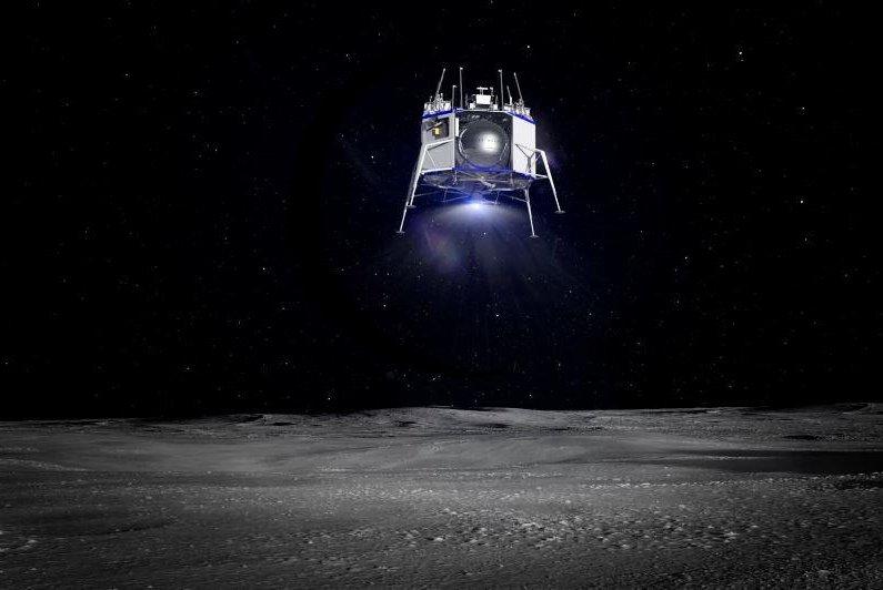 This is a rendering of Blue Origin's Blue Moon lander. Photo courtesy of Blue Origin