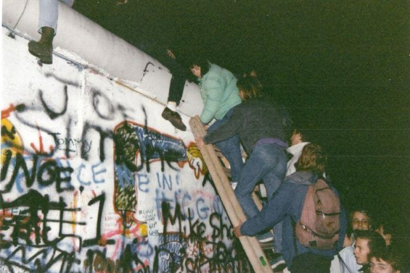 The fall of the Berlin Wall on Nov. 9, 1989. Courtesy of Gavin Stewart