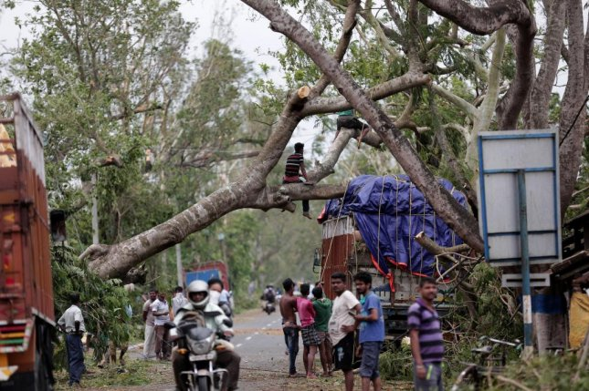 Officials in India said Thursday that more than 80 people have died in West Bengal state and Bangladesh after Cyclone Amphan made landfall with the strength of a Category 3 hurricane on Wednesday. Photo by Piyal Adhikary/EPA-EFE