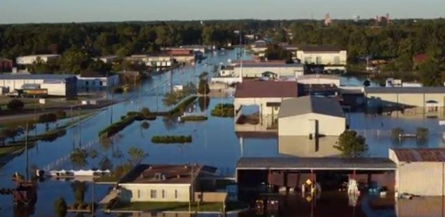 Hurricane Matthew caused more than $1.5 billion in property damage in North Carolina, state officials estimate, including property in Goldsboro, 56 miles southeast of Raleigh. Screenshot from News & Observer
