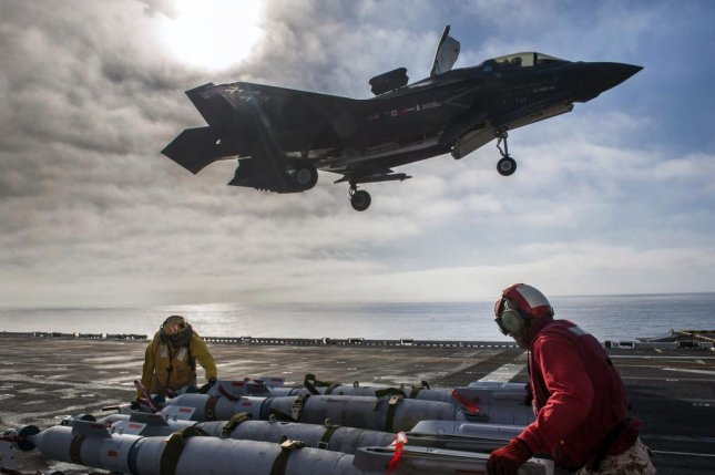 The weapons load tests evaluate the joint strike fighter's effectiveness in a maritime environment. U.S. Navy photo by Petty Officer 3rd Class Kyle Goldberg