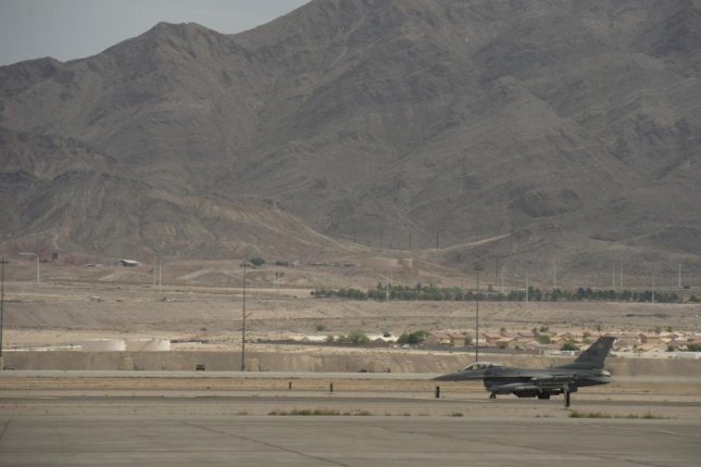 Nellis Air Force Base, Nev., shown here in 2015, has been selected as the fifth military installation for construction of an experimental 5G network. Photo by Adrian Cadiz/U.S. Air Force