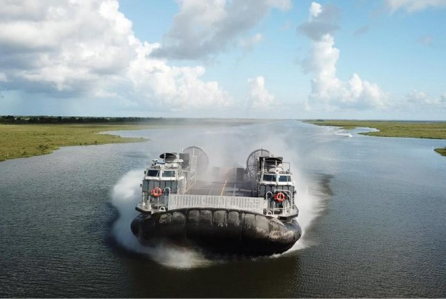 The Navy accepted delivery of its third Ship to Shore landing craft air cushion on Thursday. Photo courtesy of Textron