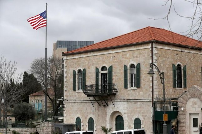 One option for the new embassy involves renovating the existing United States consulate building in Jerusalem. File Photo by Atef Safadi/EPA-EFE