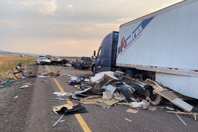 At least seven people were killed in southwestern Utah on Sunday in a multi-vehicle crash. Photo courtesy of Utah Department of Public Safety