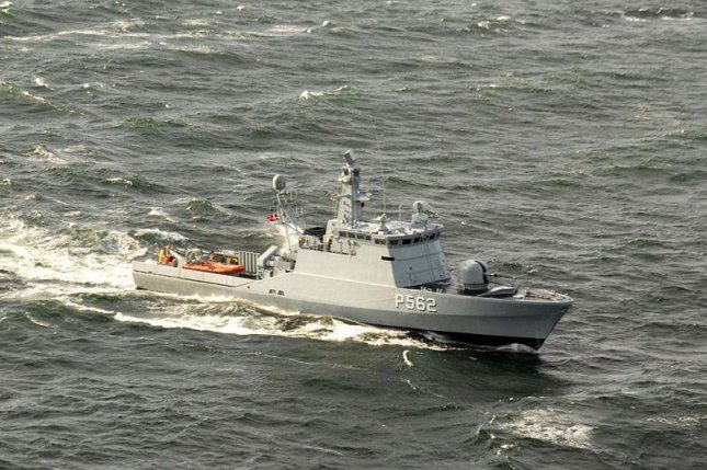 The Danish guided-missile patrol craft HDMS Viben (P562) steams through the Baltic Sea. Russian diplomat suggested that the Danish Navy's inclusion of radar on one ship, to involve it in NATO's missile shield, could make Denmark a nuclear target. File Photo by U.S. Navy MC Spec Second Class Mike Banzhaf