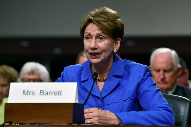 The U.S. Senate Armed Services Committee approved the nomination of Barbara Barrett, pictured, as new Secretary of the Air Force, and of Ryan McCarthy as Secretary of the Army. Photo by Wayne Clark/U.S. Air Force