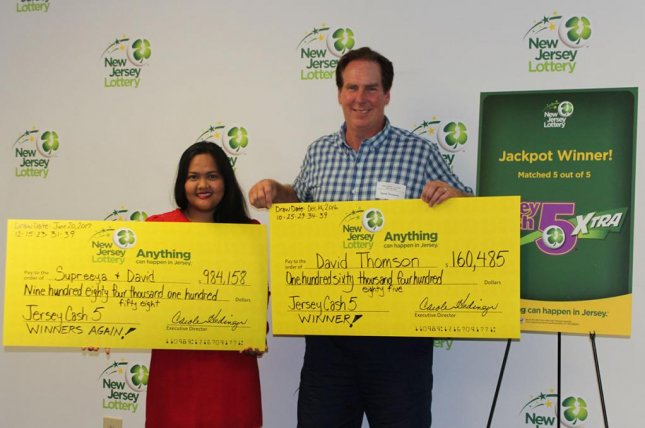 A New Jersey man said his two lottery wins and meeting his future wife weren't totally unexpected events -- they were predicted by a psychic. Photo courtesy of the New Jersey Lottery