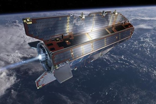 The European Space Agency's Gravity Field and Steady-State Ocean Circulation Explorer (GOCE). (Credit: ESA)