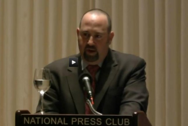Daniel Rosen, director of counterterrorism programs and policy, was arrested on a charge of soliciting a minor. In 2012, he spoke at an event for the Potomac Institute for Policy Studies. Screenshot from Potomac Institute for Policy Studies/YouTube