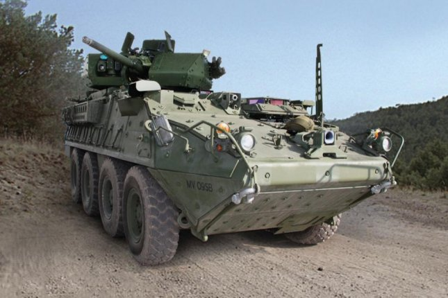 The U.S. Army received the recently tested 30mm cannon-equipped Stryker armored vehicle in October 2016. Photo by U.S. Army
