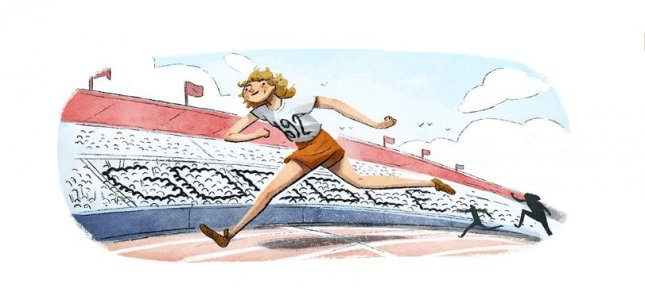 Google is paying homage to Olympic gold-medalist Fanny Blankers-Koen with a new Doodle. Image courtesy of Google