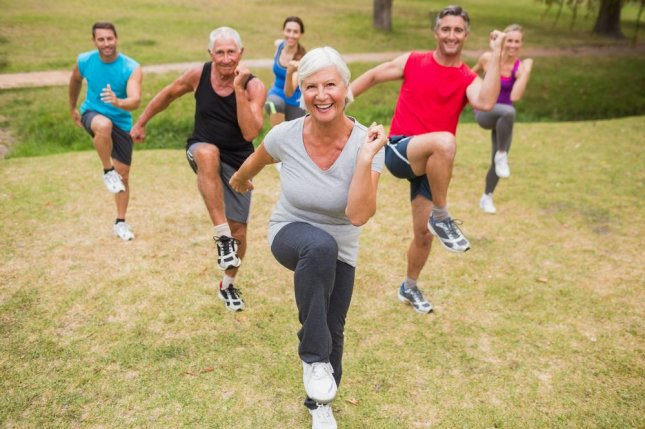 Multiple studies have shown that, as people age, physical fitness improves brain health -- and cognition, as a result. Photo by wavebreakmedia/Shutterstock
