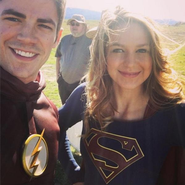 Grant gustin shares photo from supergirl flash crossover upi grant gustin shares first set photo from supergirl flash crossover m4hsunfo