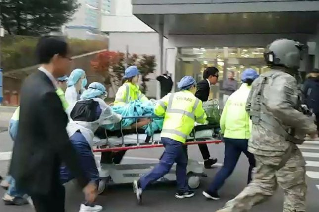 The North Korean soldier recovering at a South Korean hospital following his escape on Nov. 13 could have been at the center of heavy artillery fire, according to a military source on Thursday. File Photo by Yonhap