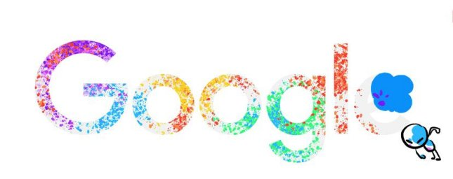Google is commemorating the Holi festival with a new Doodle. Photo courtesy of Google