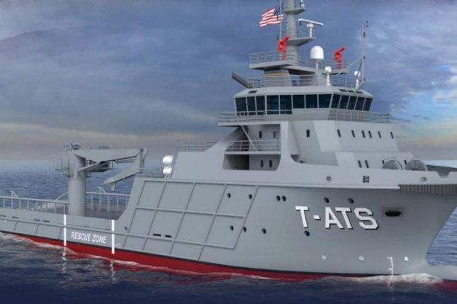 A new class of towing, rescue and salvage ship, seen here in a drawing, will be named in honor of the Navajo Nation, Navy Secretary Richard V. Spencer announced this week. Photo courtesy of U.S. Navy