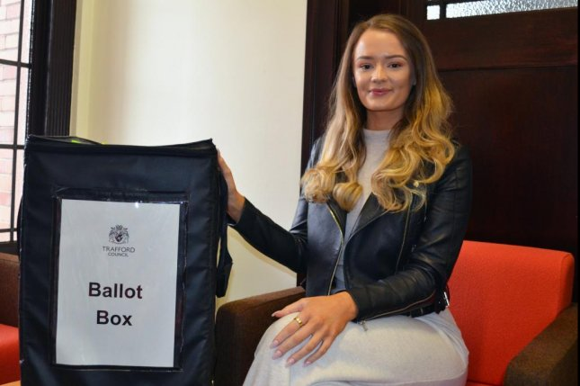 A British woman was reunited with a family heirloom ring that she accidentally dropped into a ballot box while casting her vote in the recent election. Photo courtesy of Trafford Council