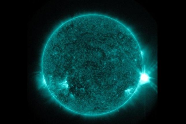 Scientists have for the first time been able to study the behavior of energy at the base of solar flares. Photo by New Jersey Institute of Technology