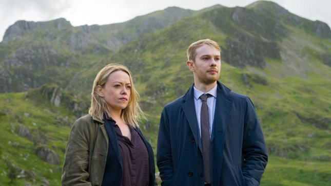 Sian Reese-Williams (L) and Siôn Alun Davies will return as police detectives Cadi John and Owen Vaughan for Season 3 of Hidden. Photo courtesy of BBC