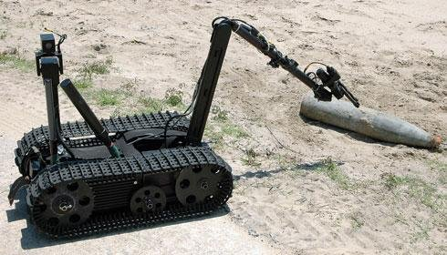 A U.S.Army explosive ordnance disposal robot. U.S. Navy photo by Phan Mandy McLaurin.