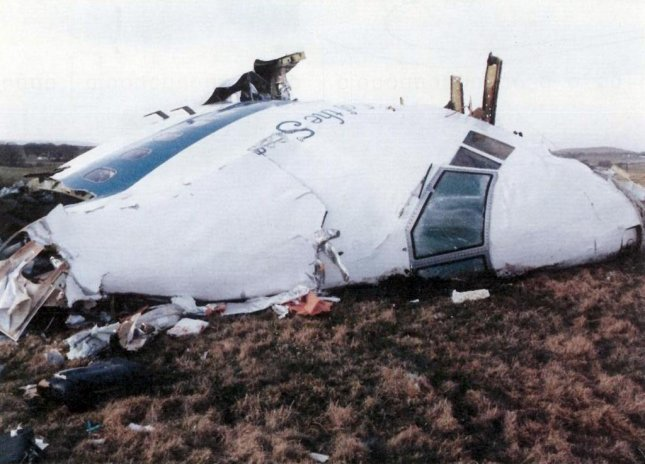 Wreckage of Pan Am Flight 103, a Boeing 747–121, named the Clipper Maid of the Seas, on the ground in Lockerbie, Scotland, on December 22, 1988. File Photo courtesy Wikipedia
