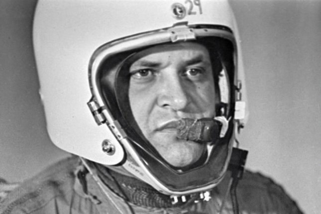 Francis Gary Powers wearing special pressure suit for stratospheric flying was an American spy whose Lockheed U-2 reconnaissance plane was shot down by a Soviet surface-to-air missile outside Sverdlovsk. Photo via Wikipedia